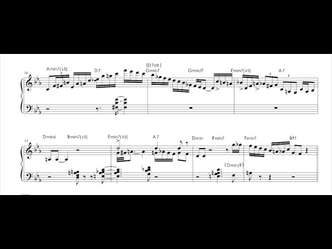 Mulgrew Miller piano solo transcription on Whisper Not (transcribed by Mauro Schiavone)