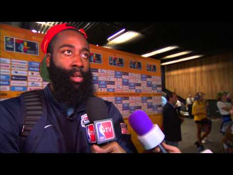 James Harden on Team USA Win vs. Ukraine