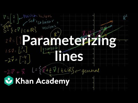 Linear Algebra: Parametric Representations of Lines