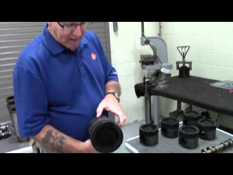 Shell engine teardown of experimental low-viscosity oil