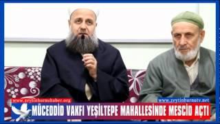 MÜCEDDİD Vakfı Yeşiltepe Mahallesinde Mescid Açtı