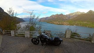 10. Autumn ride on Yamaha XVS1300CU / Stryker - Lake Como - Italy - road SP 46