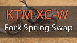 5. Change WP KTM Fork Springs On 2014 Ktm 300 XC-W | Fix Your Dirt Bike.com