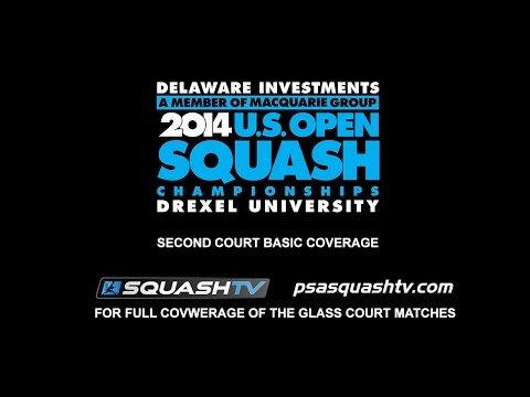 Squash : 2014 Delaware Investments US Open – Court2 Rd1 Session4