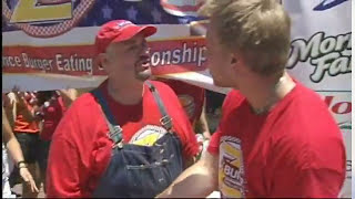 Furious Pete Catches Cheater - Z-Burger Eating Contest 2011