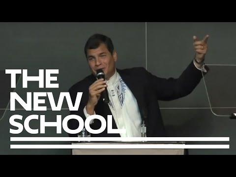 Ein Vortrag des Präsidenten von  Ecuador Rafael Correa (Englisch)   Die neue Schule für öffentiches  Engagement