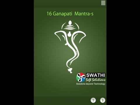 Video of 16 Ganapati Mantra-s