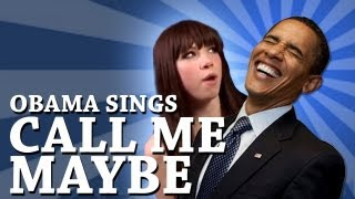 Barack Obama singing Call Me Maybe