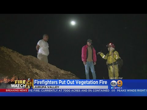 Firefighters Make Quick Work Of Inland Empire Vegetation Fire