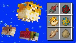 NEW Fish Mobs, Biomes, Items! Minecraft 1.13 Snapshot Update