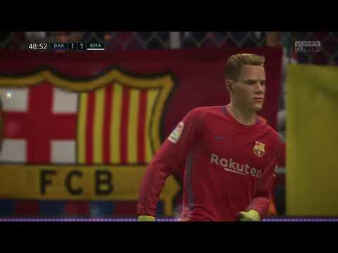 FIFA 18 - BARCELONA VS REAL MADRID GAMEPLAY