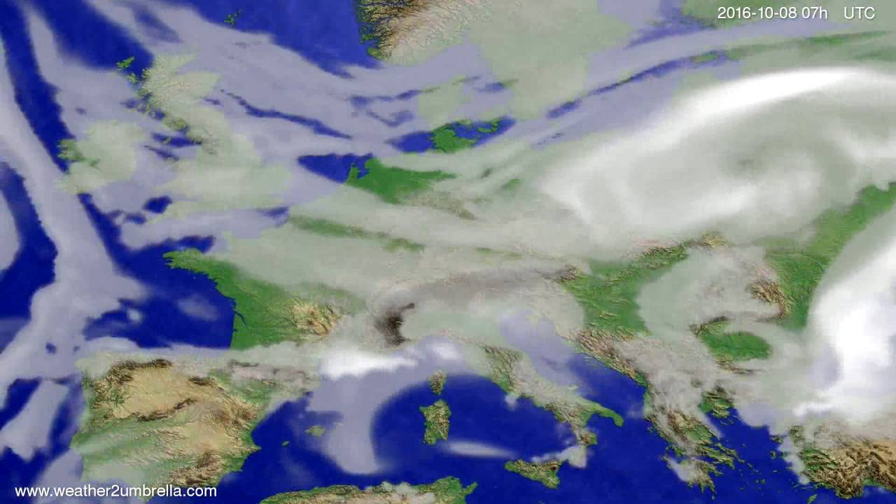Cloud forecast Europe 2016-10-04
