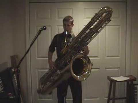contrabass - Marcel W. Helland playing his ORSI Eb contrabass saxophone. Also, see http://www.kennellykeysmusic.com.