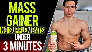 How To Make A Mass Gainer Shake Without Protein Powder At Home (NO SUPPLEMENTS)