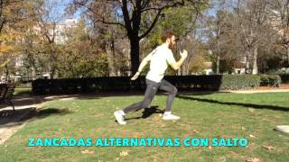 Zancadas alternativas con salto