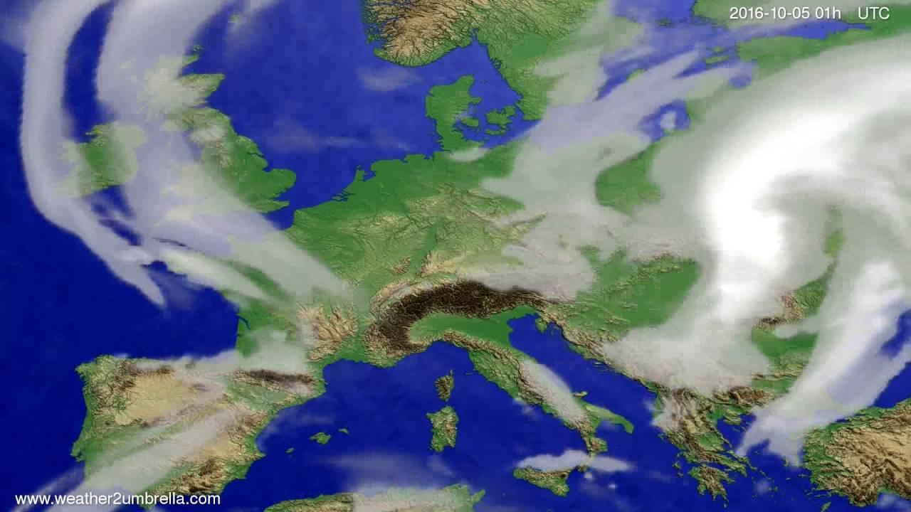 Cloud forecast Europe 2016-10-02