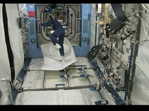 flyingcarpet - A Japanese astronaut tested a
