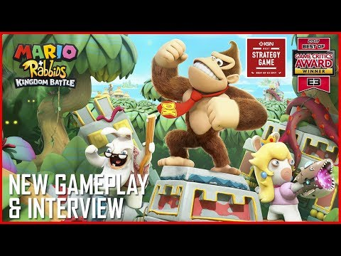 Mario + Rabbids: Donkey Kong's Adventure | New Gameplay Details and Interview | Ubisoft [NA] (видео)