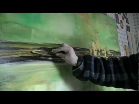 "Acrylmalerei abstract acrylic painting  Abstraktes Bild malen ""Downtown"""