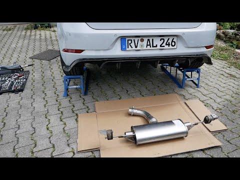 VW GOLF 7 GTI EINBAU FSW ABGASANLAGE   PerformanceLöwe