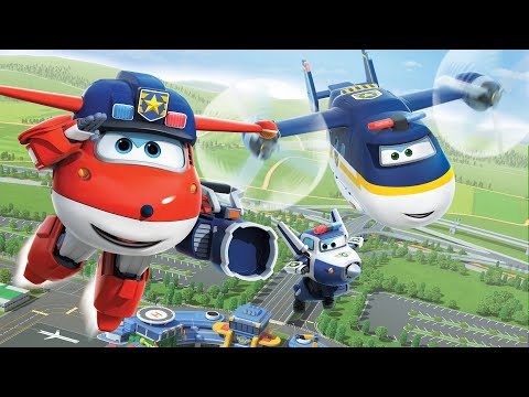 [Superwings s3 team episodes] Police Team | Police car | Police plane | Policeman