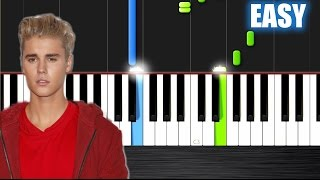 ustin Bieber - Love Yourself - EASY Piano Tutorial  Ноты и М�Д� (MIDI) можем выслать Вам (Sheet musi