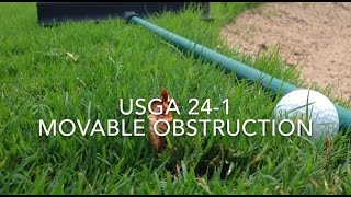 Improve your game with the pros at Moss Creek, Hilton Head, SC. Contact us at (843) 837-2231. Today's tip is USGA rule 24–1 movable obstruction. Tracy's ball...