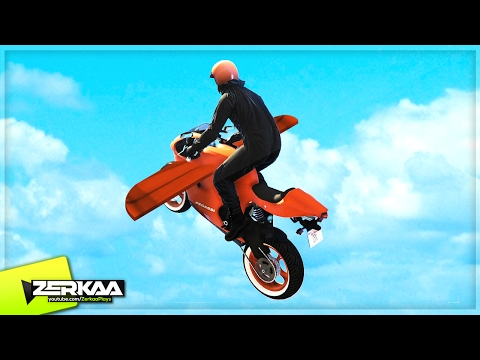 FLYING BIKES! (GTA 5 Funny Moments) (видео)