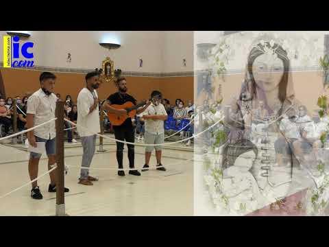 TOMÁS CONCEPCIÓN, MARIO Y JOSE MANUEL DOMÍNGUEZ cantan a la Vírgen del Mar de Punta del Caimán.