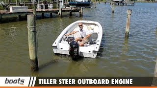 Have you ever wondered how to use a tiller steer outboard engine? In this short Boating Tips video, boats.com Senior Editor Lenny Rudow takes us for a quick ride on his 16 foot crabbing skiff, and shows the basics of how a tiller steered outboard works. You'll find more boat handling tips in our Boat Handling, Seamanship, and Navigation playlist: https://www.youtube.com/playlist?list=PLsiC-0C78AkFtau1lwFa2Gw127Fj3ANJ9There you can find videos like 3 Tips for Handling Heavy Seas, https://www.youtube.com/watch?v=O8ICz7yWG4Y&index=4&list=PLsiC-0C78AkFtau1lwFa2Gw127Fj3ANJ9and 3 Tips for Captaining a Pontoon Boat https://www.youtube.com/watch?v=7UX0lPftkp8&list=PLsiC-0C78AkFtau1lwFa2Gw127Fj3ANJ9&index=19&t=1sYou may also want to check out our Subscribe to our boats.com channel: https://www.youtube.com/user/boatsdotcomFor more boating videos, visit http://www.boats.com.boats.com features boat reviews, how-to videos, special features, and information about new boats, boats for sale, and boating products—usually with a dash of fun.Our reviewers test the features, performance, and specifications of each boat, searching out the hidden details for a critical evaluation. If you're shopping for a boat, we want to help you make the best choice. And if you're just looking, we'll try to make it fun too. Subscribe to receive notification of new videos.