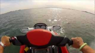 9. 2008 Seadoo RXT 215 Top speed GPS June 30 2012 GoPro HD