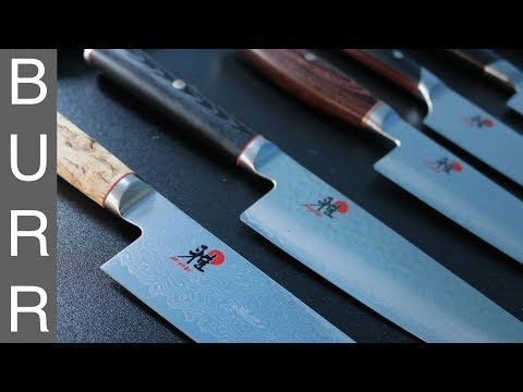 Miyabi Mizu vs Artisan vs Birchwood vs Fusion Morimoto Gyuto Chef Knives Unbox