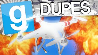 DRONE BATTLE - Gmod Dupes (Garry's Mod Funny Moments)
