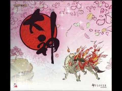 Okami Soundtrack - Ushiwaka's Dance, Playing With Ushiwaka