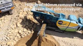 Powerscreen Premiertrak 600 mobile jaw crusher