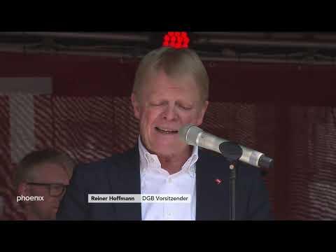 DGB-Kundgebung: Rede von Reiner Hoffmann und Studio-T ...