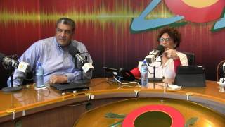 Consuelo Despradel y Angel Acosta comentan sobre la rueda de prensa del PRM