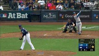 Justin Turner Go-Ahead 2-Run Home Run vs Brewers | Dodgers vs Brewers NLCS Game 2