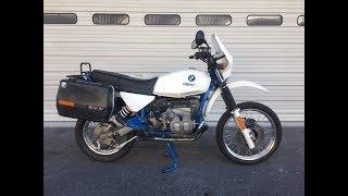 6. BMW R80GS Basic Engine warm up!