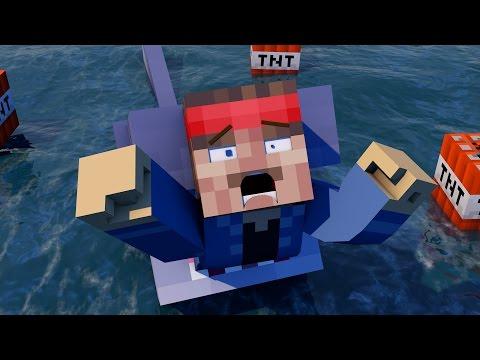 Minecraft Parody - JAWS! - (Minecraft Animation)