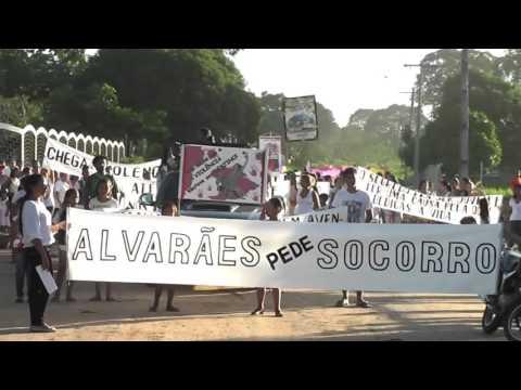 Manifestação Contra a Violência em Alvarães