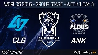 CLG vs ANX - World Championship 2016 - Group Stage Week 1 Day 3
