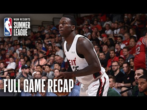 Video: JAZZ vs HEAT   Nunn, Robinson Combine For 44 In Win   MGM Resorts NBA Summer League