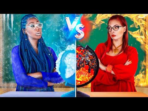 Feurige vs Eisige Lehrerin - 16 DIY Verrückte Schulsachen