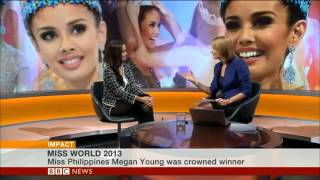 Miss World 2013 Megan Young Interview With BBC News 10/4/13