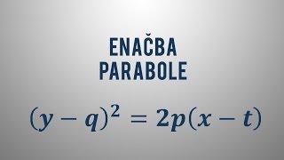 Enačba premaknjene parabole