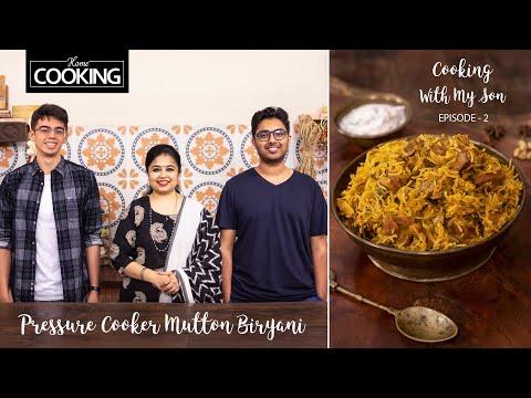 Cooking With My Son | Episode 2 | Pressure Cooker Mutton Biryani | Biryani Recipe | Lunch Recipes