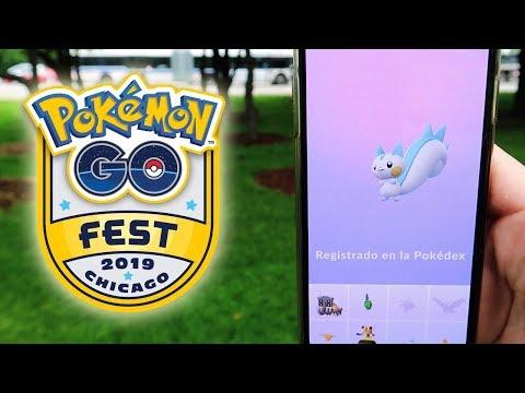 REGISTRANDO PACHIRISU y muchos SHINY! MEJORES CAPTURAS del Pokémon GO Fest 2018! [Keibron]