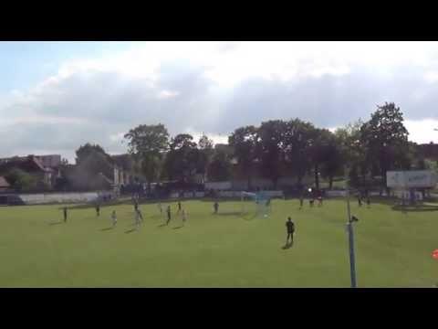 22 minuta meczu - Gajda z rzutu karnego strzela na 2:0