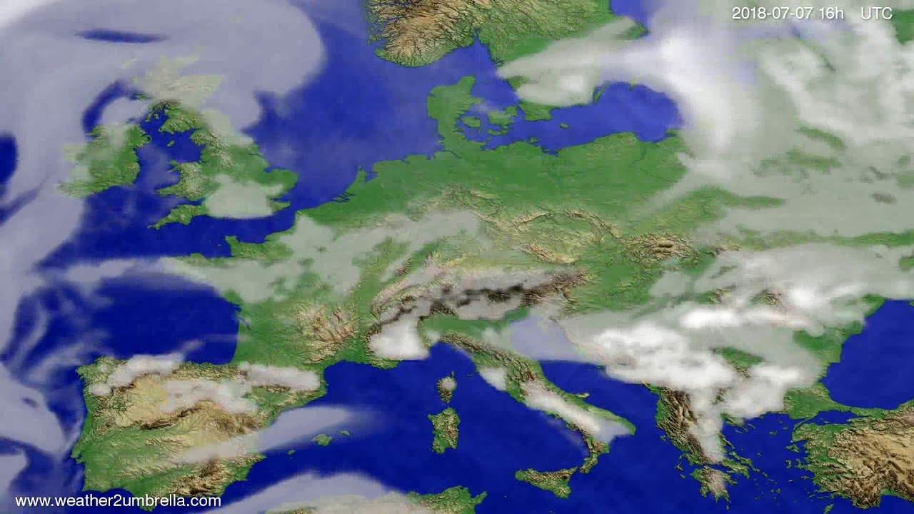 Cloud forecast Europe 2018-07-04